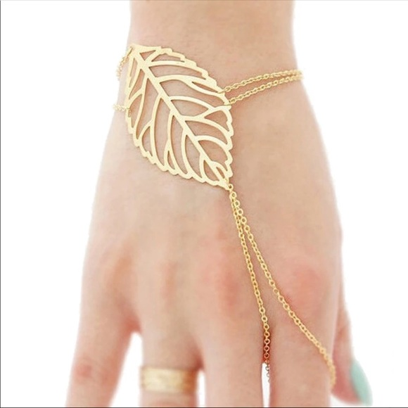 Jewelry - Gold Filled Leaf Hand Chain
